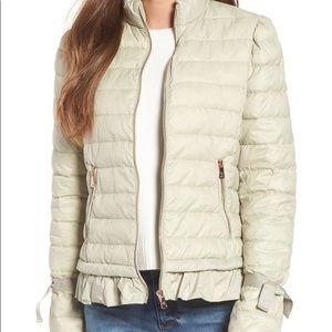 Ruffle Hem Primaloft Puffer Jacket